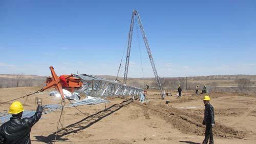 工程1标完成铁塔施工转序