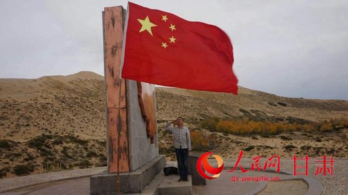 清华 军人 逐梦 中哈边境一线向国旗敬礼