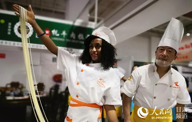 首届中国面条博览会在兰开幕