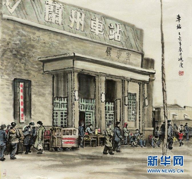 【文化甘肃】王鸿庆:用画笔定格老兰州记忆