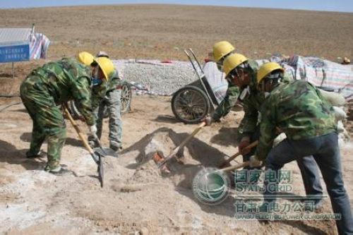 4月7日,河西750千伏永金输电线路工程2标段177号铁塔基础