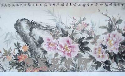 中南海牡丹花水墨画-孟天宏 国画牡丹娇艳华贵傲 是不可多得之佳品