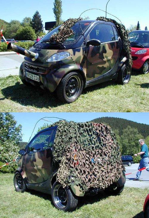 小心 凶悍的改装smart小坦克 高清图片